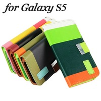 Customize brand private cheap phone case for Samsung Galaxy S5 I9600 lanyard attached hybrid colors