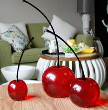 decorative artificial transparent resin fruit cherry