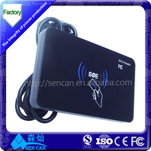 Hot selling access control Metal case EM or IC touch card reader with IP68 waterproof