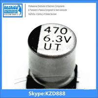 Capacitor Aluminium 470UF 6.3V 20% SMD 214mA 7000Hours 8x10mm ECE-V0JA471P 105C (best price) UT KZD Series