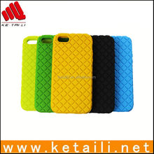 fashion colorful soft silicone rubber coating for iphone 5 5s case mixed color