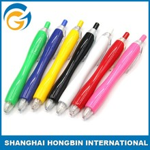 New Model Ball Point Pen with Retractable Scroll with Color Rubber