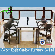 outdoor indoor garden rattan wicker aluminum dining set roots rattan outdoor furniture