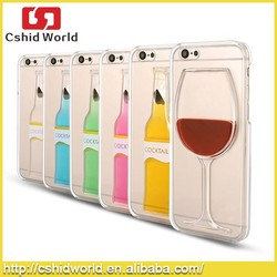 Red Wine Glass Beer Moving Liquid 3d New Case Cover For Iphone 5