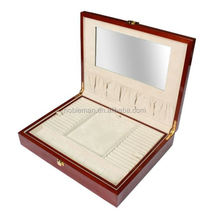 Alibaba New Compact Engravable Rings Wooden Boxes Rose Gold Necklace Cherry Wood Jewelry Box