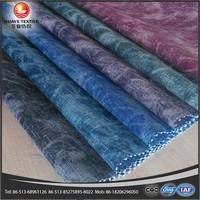 yarn dyed dandelion print denim clothing fabric