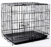 "Pet Dog 24"" Cage Crate Collapsible Metal Kennel Portable Puppy Cat House"