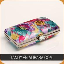 flower printing fabric lady's evening purse clutch handbag