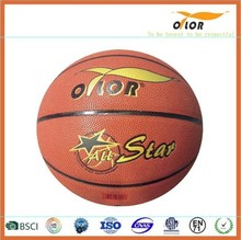 Size 6 PU leather laminated indoor training basketballs