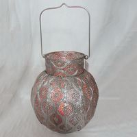 Custom Printing Logo Crafts Metal Chiminea Candle Holder