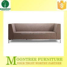 MSF-1156 Top Quality Hotel And Home Stainless Steel Legs Blue Fabric 3 Theater Sofa