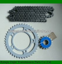 2014 new type 1045# steel high quality motorcycle part motorcycle sprocket /motorcycle chain and sprocket sets