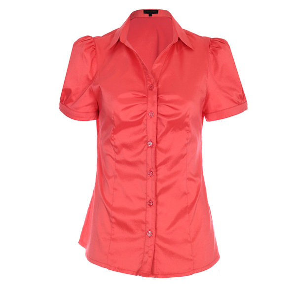 New Women Blouses Amp Shirts Long Sleeve Pink Ladies Office Uniform Shirts