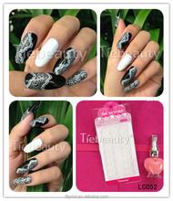 ragazze adesivo bianco per la nail art