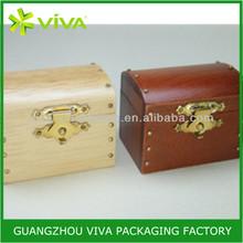 Mini wooden treasure chest jewelry box wholesale