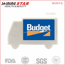 JS-12052 Advertising design pp container truck shape sugar free 40 mints for children