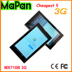 MaPan MX710B 3G Dual SIM card 3G mobile phone tablet/android mobile phone tablet with white touch screen