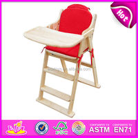 Wooden high back chair for kids, baby high chair for sale,wholesale restaurant baby high chair W08F012