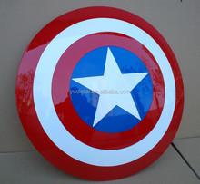 custom made Aluminum metal big Captain America Shield, captian USA shiled makers in china