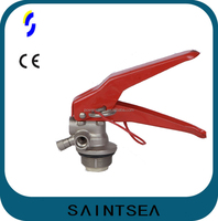 Dry chemical powder valve for fire extinguisher