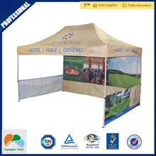 small size gazebo tent 2m x 2m sale with half said wall