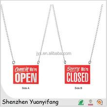 Unique design acrylic open closed door signs