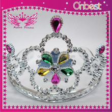 Free shipping wholesale bulk princess rhinestone pageant crowns and tiaras pearl crystal party accessory