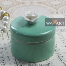 Exquisite Green Color Ring Box Rose Ornament Ring Box