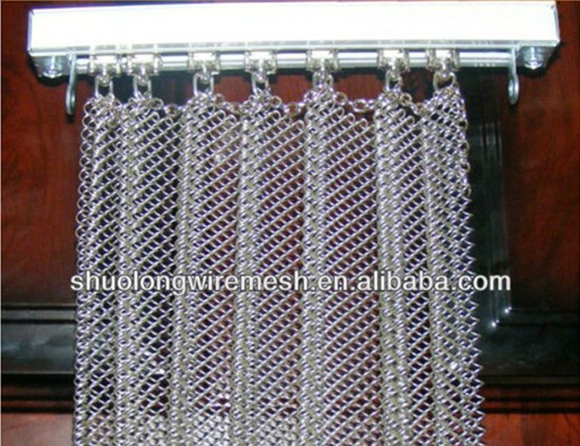 Mesh Curtain Panels : Decorative architectural chain link curtain mesh metal