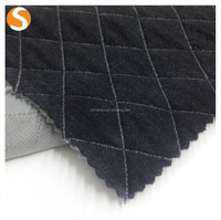 Customized soft polyester cotton spandex bonded jacquard knitted fabric
