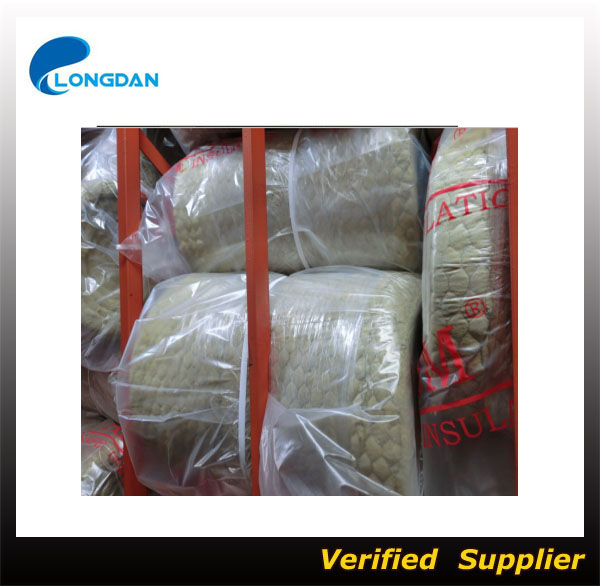 Insulation rock wool blanket with wire mesh buy rock for Mineral wool blanket