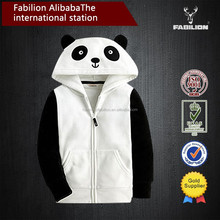Oem plain high quality multicolor sport zipper animal hoodie with ears for unisex