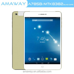 Quad Core MTK8382 build-in 3g 1gb ram 7.85 inch tablet pc