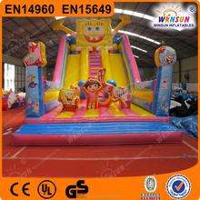 23ft WINSUN EN14960 Inflatable Spongebob Themed Slide For Amusement Park