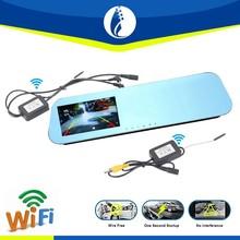 Auto parking backup camera wireless 4.3inch display Car monitoring system night vision rear view backup camera mirror