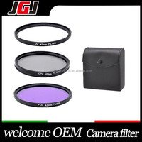 Hight Quality 62MM UV CPL FLD Filter Kit + Filter pouch bag for Sony Nex-7 A7000 A5000 A3000 for Canon nikon pentax camera