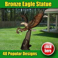 Modern garden decoration eagle brass sculpture