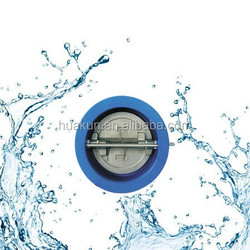 Dual plate butterfly check valve