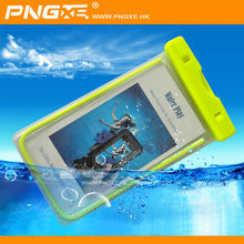 Light green color 6 meters diving PNGXE mobile waterproof bag for iphone 6 mobile phone