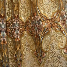 Hot sale arabic designs blackout curtains fabric made in shaoxing