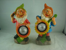Newest garden gnomes,solar power figurines