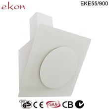 CE GS CB SAA Approved Best Selling White Glass 90cm Wall Mounted Round Range Hood