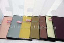 (hot sale color - PEACH) Colored Mirror Glass Sheet/Coated Mirror Per Square Meter/8mm Coated Plain Glass Price/12mm Float Glass