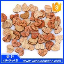 200 Pcs /lot Love Heart Wood Flatback Appointment Wedding Decorations 12mm