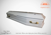 TD-E35 white colour coffin made by Tongda