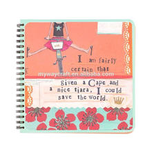 cut and paste pattern cover square bound spiral notebook