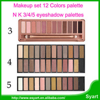 Free DHL 200sets Wholesale bare earth color Women eyeshadow makeup eye shadow with Blusher Party Wedding nk12345 Makeup palette