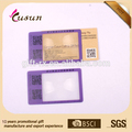 3X de tarjeta de crédito Diseño Fresnel lente lupa con 8 cm Escala de longitud