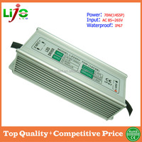70W ac85~265V 1500ma constant current IP67 waterproof led driver for led light