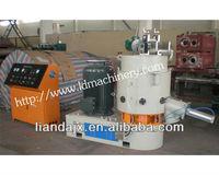 plastic film agglomerating/compacting machine